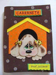 Resultado de imagen para capas de caderno em eva cachorro