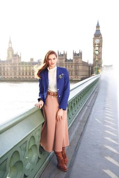 Capital Girl - Preppy separates get a modern update on the streets of London. This Sloane Ranger is the bees-knees!