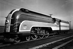 Shrouded steam locomotives appeared in the 1930's - pure Art Deco design.