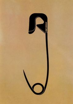 Shigeo Fukuda. Enviromental Pollution, Poster, 1973.