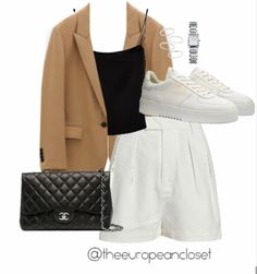 Kpop Fashion Outfits, Girly Outfits, Cute Casual Outfits, Simple Outfits, Pretty Outfits, Trendy Fashion, Vintage Outfits, Fashion Looks, Hollywood Fashion