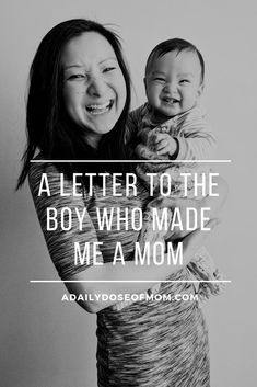 A heartfelt letter to the little boy who made me a mom. Get the tissues ready! Pin to read later!