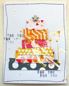 Card with Studio tekturek papers by Laetitia67 at @Studio_Calico