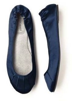 Wedding, Blue, Shoes, Flats, Satin, Navy, Ballet, Slippers wedding-ideas