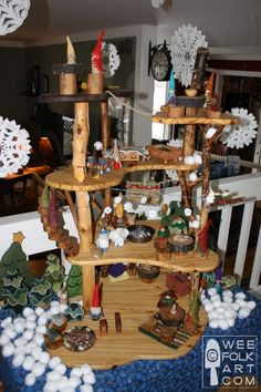 wee folk art always has the best gnome house display! Inspiration to build one!