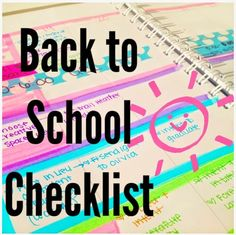 Back to School Checklist! This website is AMAZING!!!! She has everything you could possibly think of to help make a busy schedule/life a lot easier!!! Check it out!!!