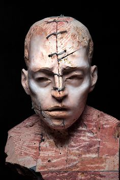 From sculpture to photography and video art, every aspect of Italian artist Christian Zucconi's work is devoted to the study of human flesh and its many evolutions. His sculpture is particularly st… Figurative Sculpture, Portrait Sculpture, Ceramic Art, Statue, Visual Art, Art, Contemporary Art, Contemporary Sculpture, Sculpting