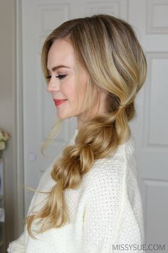 "The pull-through braid is about to be your new favorite braid. It's so easy because get this, it's not actually a braid. I know, it completely changes the braiding game because you can master it faster than any ""braid"" you've ever seen. If you love…"