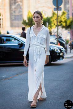 Haute Couture Fall 2015 Street Style: Sasha Pivovarova