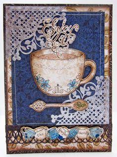 Good Morning Coffee Talk card with Heartfelt Creations by Lori Williams