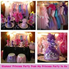 Glamour Princess Party from My Princess Party to Go is now on sale. Save $25 plus 2 Free Bonus Guests now thru 11/26! #princessparty #glamour #princess party