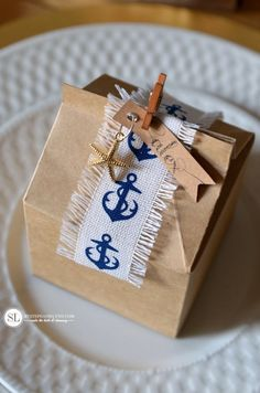 DIY Nautical Favor Boxes Place Cards MichaelsMakers By Stephanie Lynn
