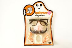 Vintage Halloween Disguises Halloween Costume by ThirdShift - Use this package to hang on a wall at a Halloween party, fun retro decor!