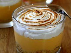 Recette Dessert : Tarte à la mandarine meringuée en verrine par AmandineCooking