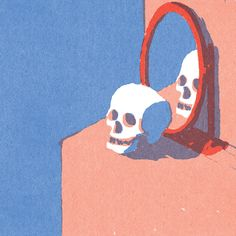 Lorenzo Gritti's illustration style relies on a limited palette and rudimentary shapes. Lorenzo Gritti is a Milan-based illustrator who specializes in creating magazine editorials, books covers, and packaging. Art Sketches, Art Drawings, Drawing Art, Abstract Illustration, Skull Illustration, Illustration Styles, Digital Illustration, Simple Illustration, Posca Marker