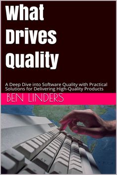 My 2nd bookWhat Drives Qualityhas been officially released today (September 30). It is now available on Amazon and all other major bookstores.