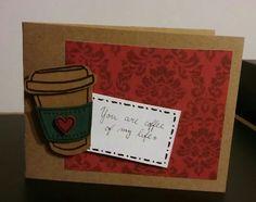 What I did for my boyfriend :3  (yes, I love coffee :D ) #coffee #card #love #káva #přáníčka