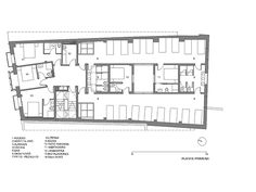 Image 13 of 21 from gallery of New Shelter in Ruavieja / Sergio Rojo. First Level Floor Plan Patio, Hostel, Pilgrim, Shelter, Floor Plans, Flooring, How To Plan, Architecture, Gallery