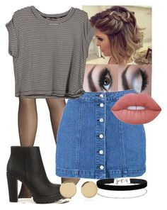 """Casual Outing"" by blackest-raven ❤ liked on Polyvore featuring Avenue, Boohoo, Lime Crime, Nly Shoes, Miss Selfridge and Magdalena Frackowiak"