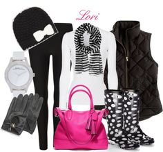"""Stripes and Dots"" by lori-347 on Polyvore"