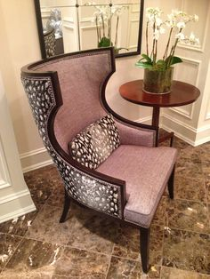 Totally in love with this exciting new frame from Taylor King! The Ginori chair is a striking representation of Mid-Century modern design with streamlined arms.  Sophisticated fabric application utilizing Belgian cut-velvet skin showcases the ever-popular exotic animal skin trend. #stylespotters  #hpmkt 200 Steele