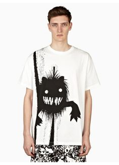 Jil Sander Men's White Lion Print T-Shirt