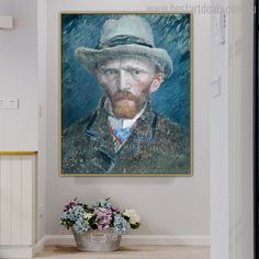 Instead of moving away from recovered people give them love and gift something special like this art. Wall Art Decor, Wall Art Prints, Canvas Prints, Van Gogh Prints, Online Art Store, Impressionist Artists, Vincent Van Gogh, Portrait, Gift