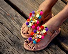 Spartan sandals Saltwater handmade to order by ElinaLinardaki