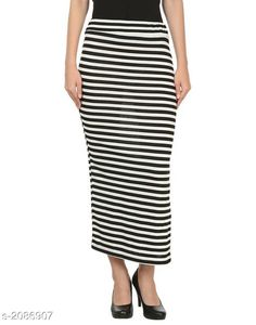 Skirts Navya Colorful Exotic Women's Skirt Fabric: Hosiery Size: Up To 28 in To 34 in (Free Size) Length: Up To 39 in  Type: Stitched Description:  It Has 1 Piece Of Women's Skirt Pattern: Striped Country of Origin: India Sizes Available: Free Size, 26, 28, 30, 32   Catalog Rating: ★4.1 (464)  Catalog Name: Comfy Navya Colorful Exotic Women's Skirts Vol 4 CatalogID_276387 C79-SC1040 Code: 042-2086907-915