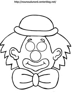 Coloriage Masque Clown.18 Meilleures Images Du Tableau Masque Clown Stream Bed