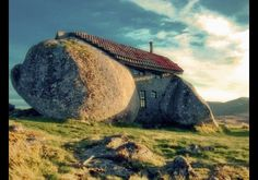 Don't judge a home by it's facade, there's a fireplace & swimming pool inside! Casa do Penedo, Fafe Mountains, Portugal
