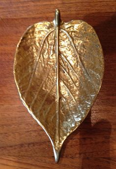 Vintage Virginia Metalcrafters Brass Mulberry Leaf by MadHomeStyle