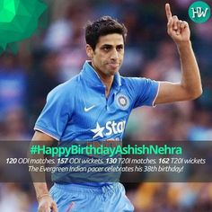 #HappyBirthdayAshishNehra Wishing one of the India's finest bowler all the success in his life! #IPL #cricket #SRH