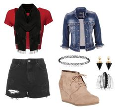 """""""Crimson Kaiba Outfit 6"""" by onyx-silverwolf ❤ liked on Polyvore featuring Topshop, City Classified, maurices, Avenue and Vita Fede"""