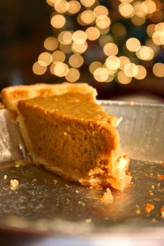 Apple Butter Pumpkin Pie - pure Autumn, slightly sweet and fruity from the apple butter, but still having that traditional pumpkin pie flavor
