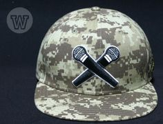 WIP CAPS x FLIPTOP「BATTLE MC III Desert Digi-Camo」Fitted Baseball Cap