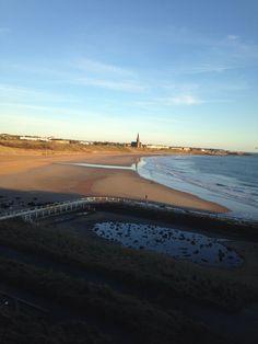 Tynemouth long sands beach 7.15 am Monday 10 th march 2014 www.tynemouthwebcam.com
