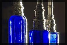Traditional Moroccan perfume bottles