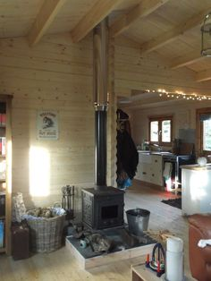 Can I install a wood burning stove in my log cabin? - Keops Interlock Log Cabins