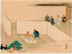 Lot 00117 N.1 shin-hanga woodblock print Yamakawa Eiga THE SUICIDE OF OISHI YOSHIO Year: 1920 Condition: excellent Size: 34,5 x 25,5 cm