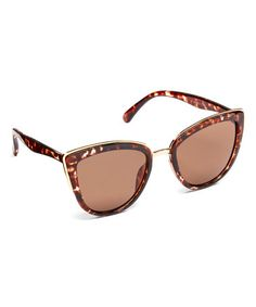 Look at this #zulilyfind! Tortoise Cat-Eye Sunglasses #zulilyfinds