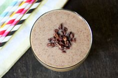 You will not believe that the Cookies and Cream smoothie is actually good for you. You may even find yourself coming back for seconds. Lucuma powder, which comes from the Peruvian Lucuma plant, is a low glycemic sweetener and has a unique caramel, maple flavor. It adds the perfect natural sweetness