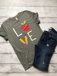 Show your love for Teaching in this soft tee! Perfect Shirt for those casual Fridays! • Bella + Canvas Unisex Triblend Short-Sleeve T-Shirt • How does it fit: Due to this being a unisex style shirt, we typically suggest sizing down for a more fitted look. • Made with High Quality Heat