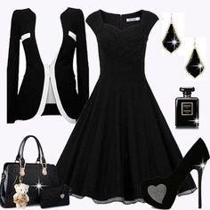 d565d78224 A(z) Fekete ruha összeállítások-Black dress combination nevű tábla ...