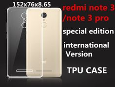152mm TPU Case glass for xiaomi redmi note 3 pro special edition kate Official Global international Version soft clear protect