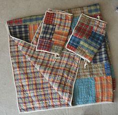 194 Best Denim Woven Plaid Quilts Images Plaid Quilt