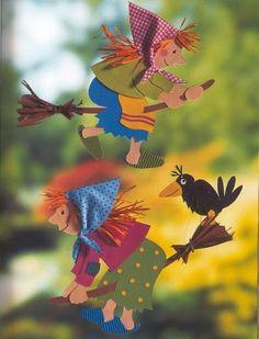 Das Christophorus Bastelbuch - jana rakovska - Picasa Webalbumok Easy Crafts, Diy And Crafts, Crafts For Kids, Paper Crafts, Fall Halloween, Halloween Crafts, Halloween Decorations, Fun Fall Activities, Halloween Activities