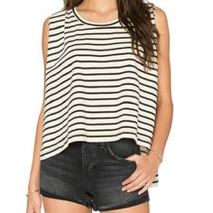 New!  Free people oversized shirt Brand new free people oversized striped shirt never worn! Free People Tops