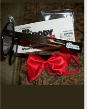 GREAT IDEA-BUY GLASSES FROM ORIENTAL TRADING CO AND MAKE YOUR OWN RED BOW TIE!