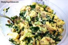 Kale Potato Salad...perfect for a side dish, entree, or snack. Vegan.